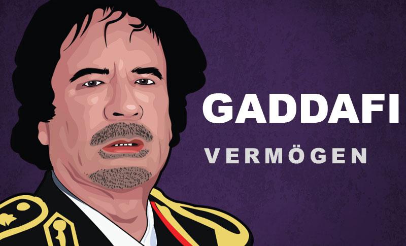 Gaddafi Vermögen und Einkommen