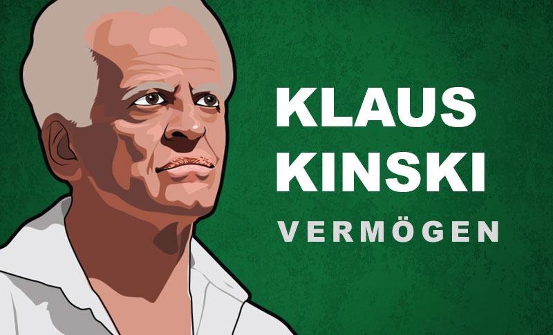 Klaus Kinski Vermögen und Einkommen