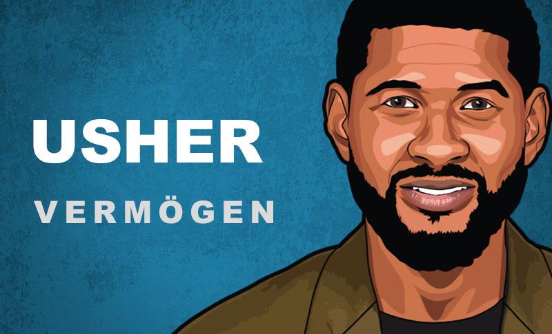 Usher Vermögen und Einkommen