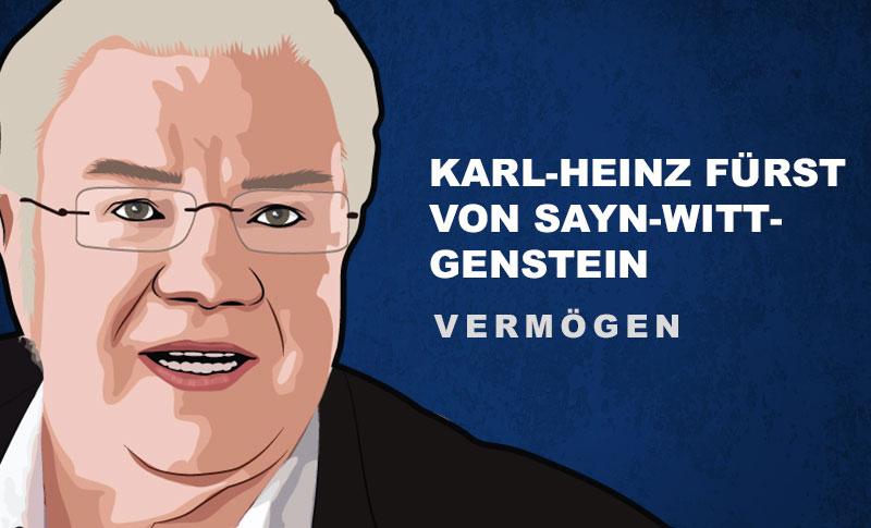 Karl-Heinz Fürst von Sayn-Wittgenstein Vermögen und Einkommen